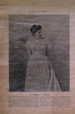 Teresa Vanderburgh's Musical Scrapbook #1 - Picture of Mrs. C.W. Harrison