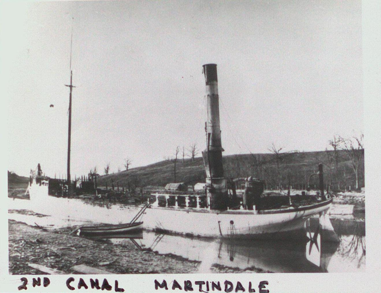 Early Steam Vessel in the Welland Canal at Martindale