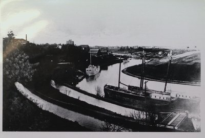 The Second Welland Canal and the Raceway behind St. Paul Street