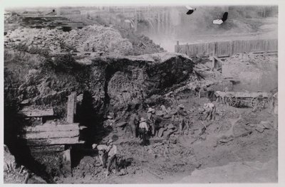 The Sills of the First Canal Seen During the Building of the Third