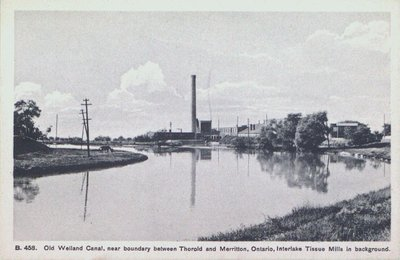 Old Welland Canal Near the Boundary Between Thorold and Merritton