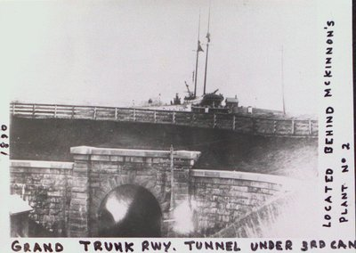 Grand Trunk Railway Tunnel Under the Third Welland Canal