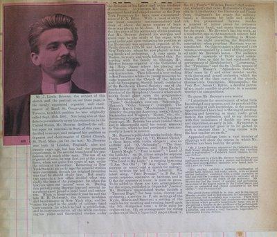 Teresa Vanderburgh's Musical Scrapbook #1 - Biography of Mr. J. Lewis Browne