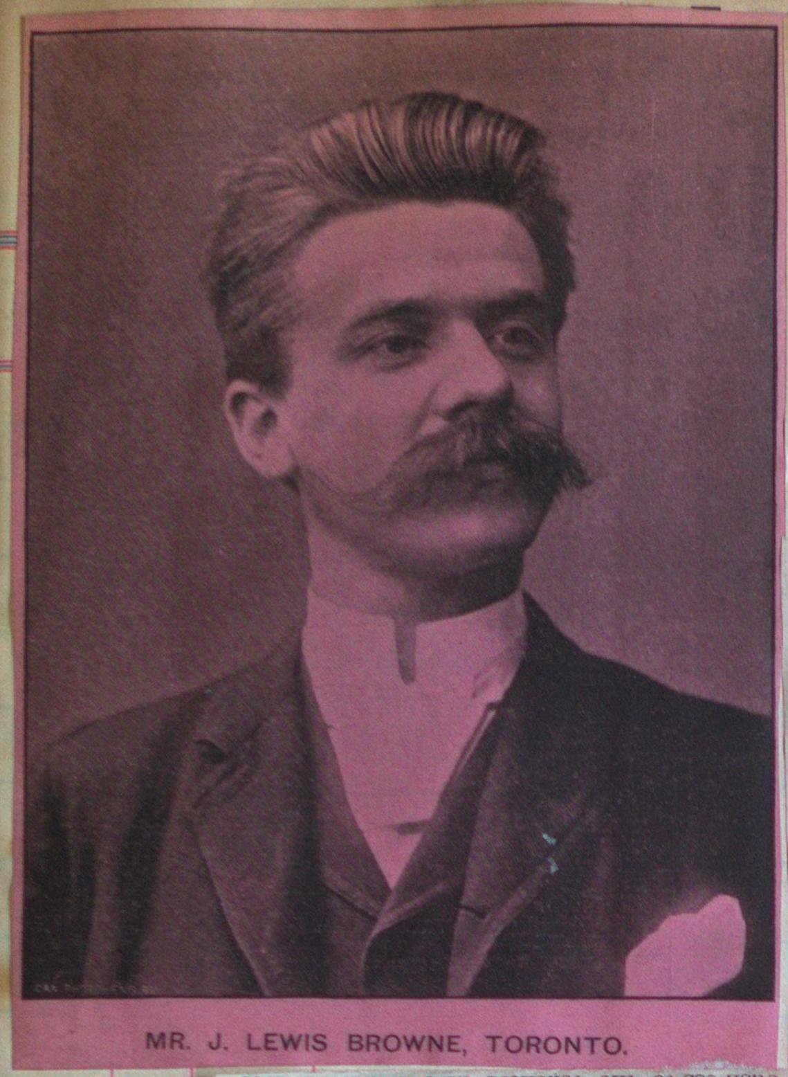 Teresa Vanderburgh's Musical Scrapbook #1 - Picture of Mr. J. Lewis Browne