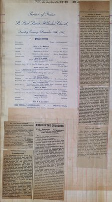 Teresa Vanderburgh's Musical Scrapbook #1 - Music Services in St. Catharines Churches