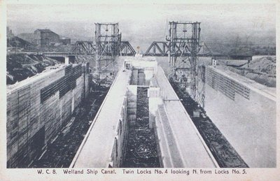 Twin Locks Four & Five Under Construction on the Fourth Welland Canal