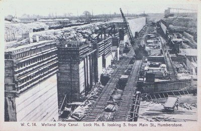 Lock Eight Under Construction on the Fourth Welland Canal