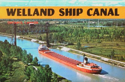 The Welland Ship Canal at Thorold