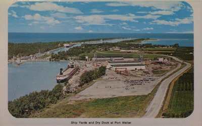 The Ship Yards and Dry Docks at Port Weller on the Welland Ship Canal