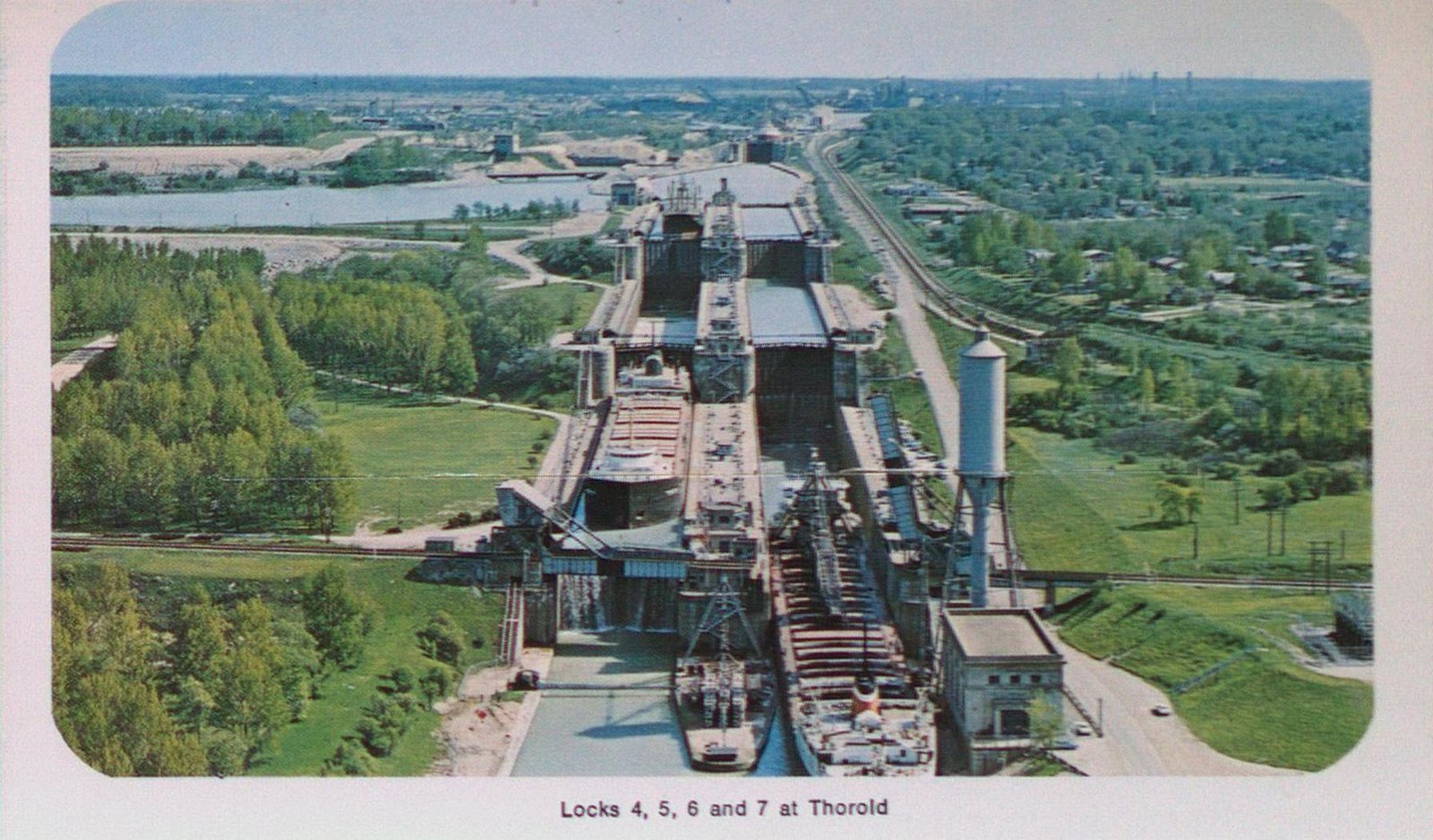 Locks Four, Five, Six and Seven on the Welland Ship Canal