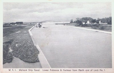 Entrance and Harbour of Lock One on the Welland Ship Canal