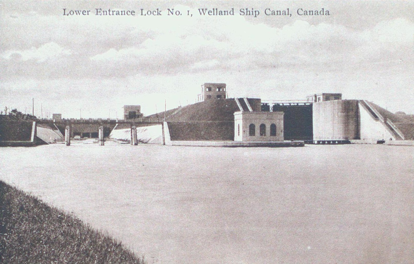 Lower Entrance of Lock One on the Welland Ship Canal