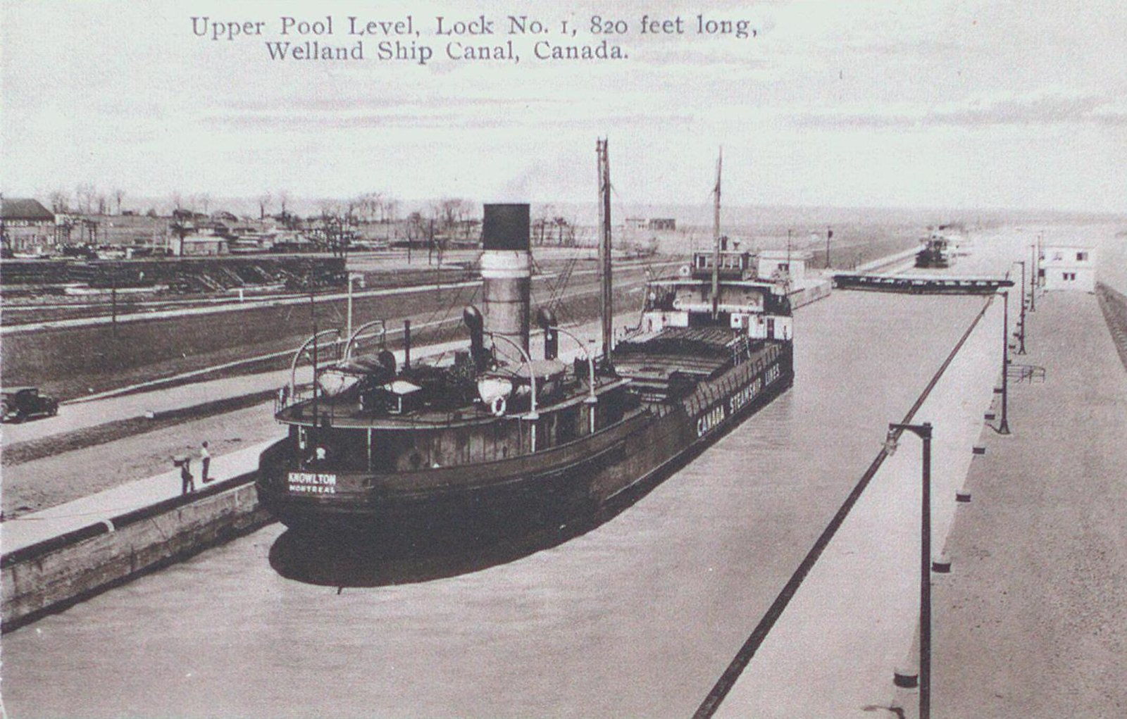 Upper Pool at Lock One on the Welland Ship Canal