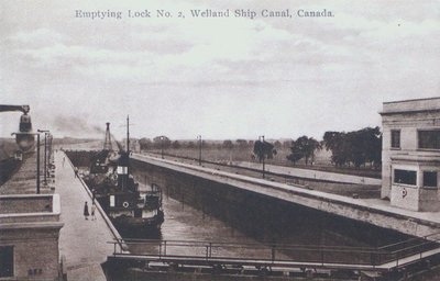 Emptying Lock Two on the Welland Ship Canal