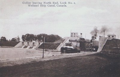 The 'Collier' Leaving Lock Two on the Welland Ship Canal