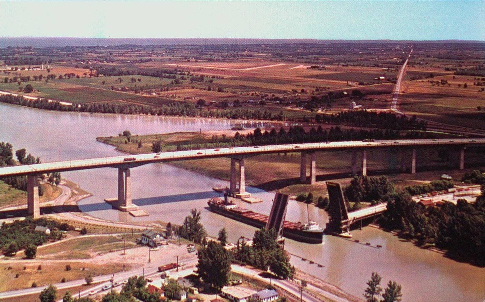 The Garden City Skyway and the Welland Ship Canal