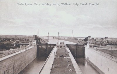 The Twin Flight Lock # 4 on the Welland Ship Canal