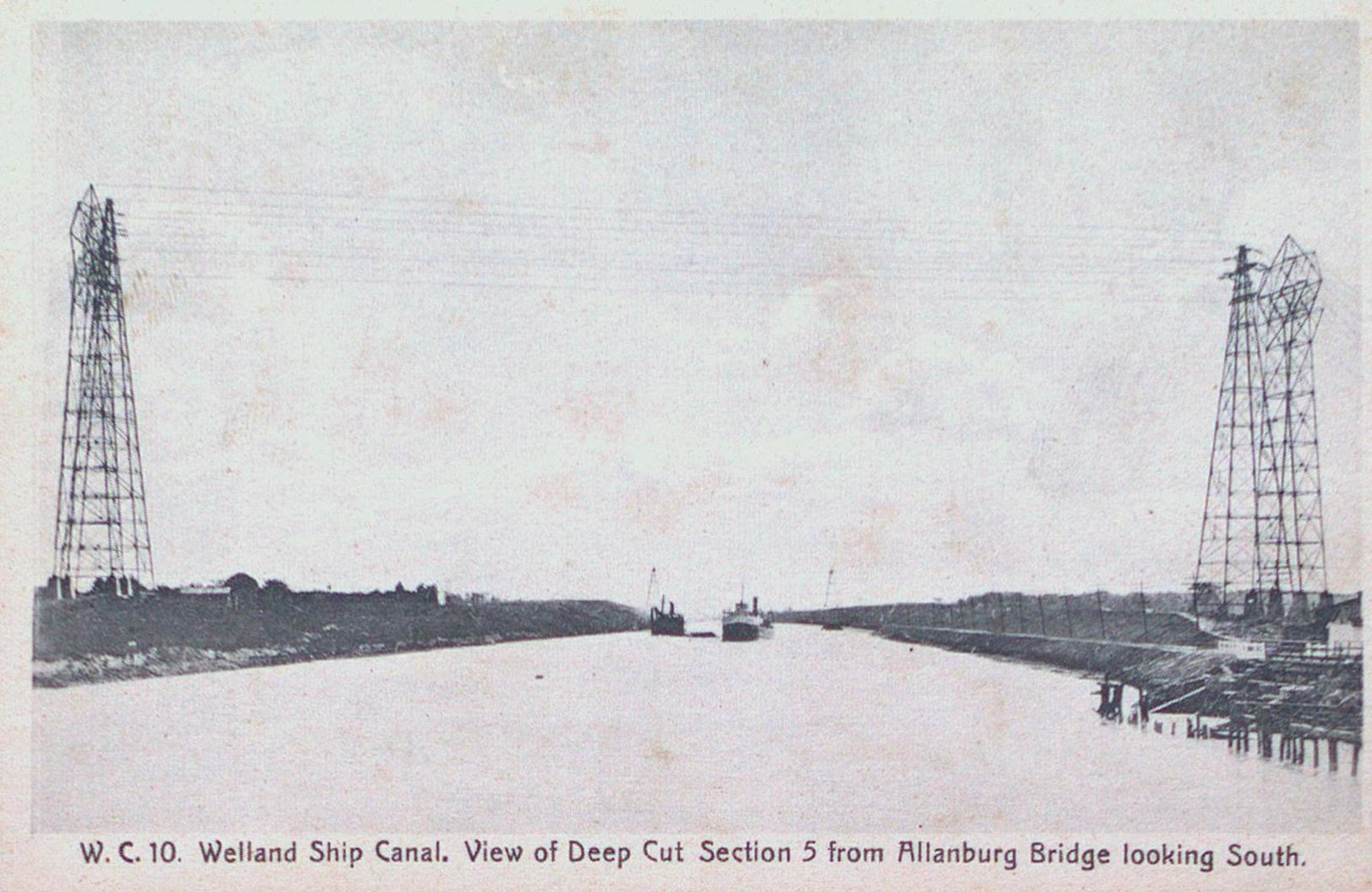 Deep Cut, Section Five, as seen from the Allanburg Bridge on the Welland Ship Canal