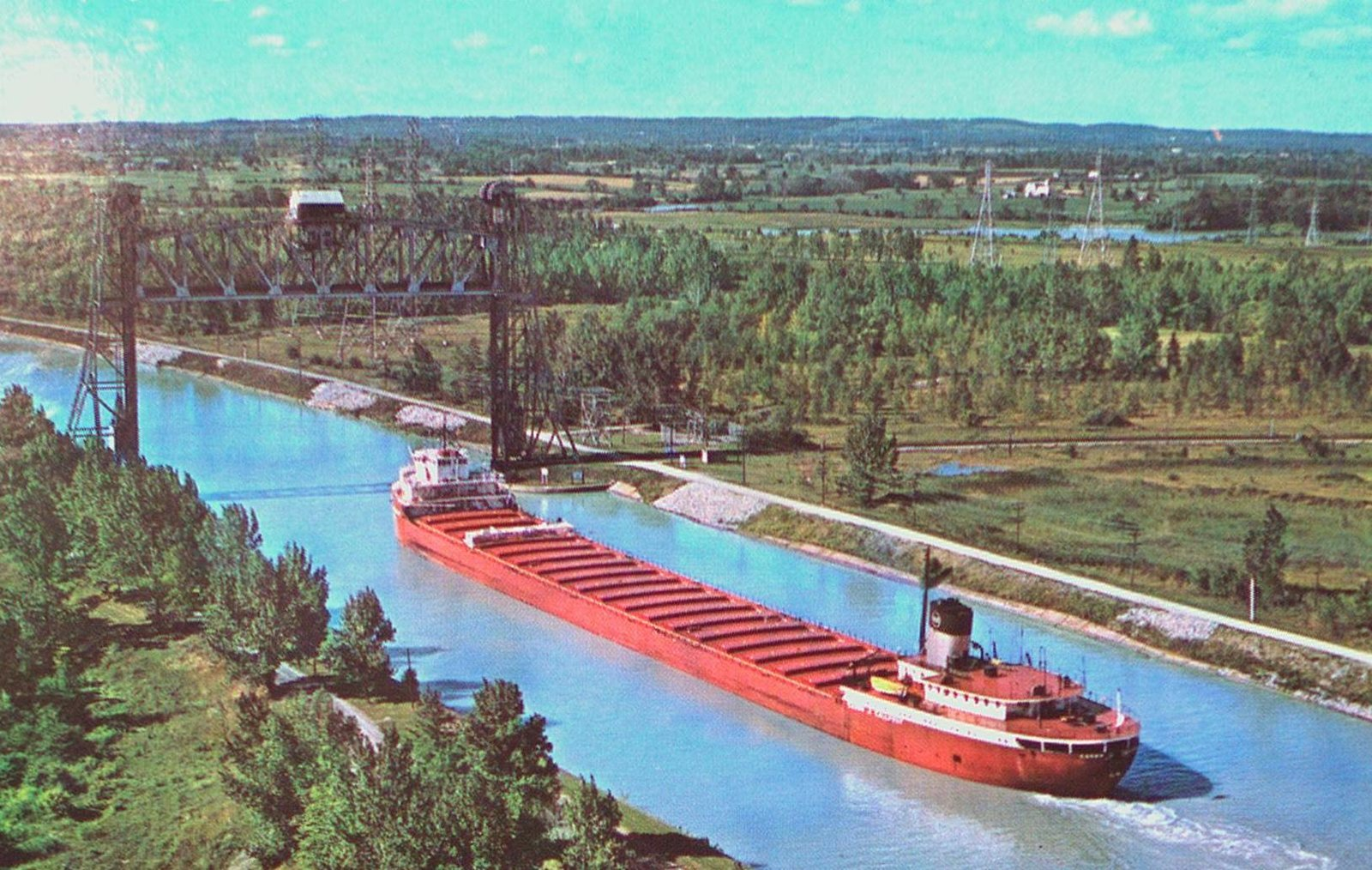 A Lift Bridge on the Welland Ship Canal