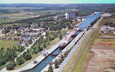Lock Eight on the Welland Ship Canal