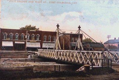 Foot Bridge & West Street, Port Colborne