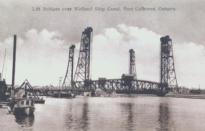Lift Bridges over the Welland Ship Canal in Port Colborne