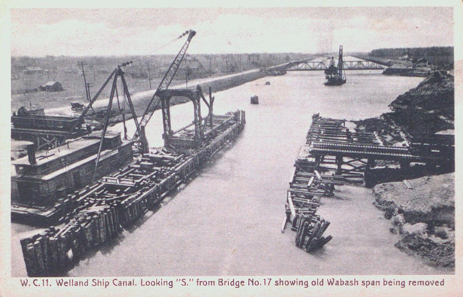 Old Wabash Span Being Removed on the Welland Ship Canal