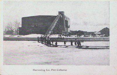 Harvesting Ice in Port Colborne