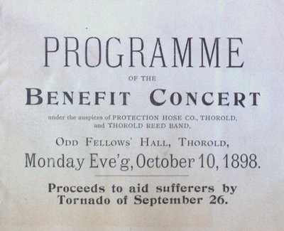 Teresa Vanderburgh's Musical Scrapbook #1 - Benefit Concert Program for September 26 Tornado Sufferers