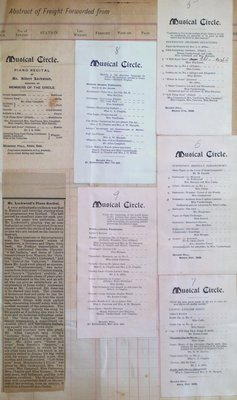 Teresa Vanderburgh's Musical Scrapbook #1 - Programs from the Musical Circle in St. Catharines