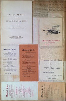 Teresa Vanderburgh's Musical Scrapbook #1 - Programs and Clippings for Various Musical Performances