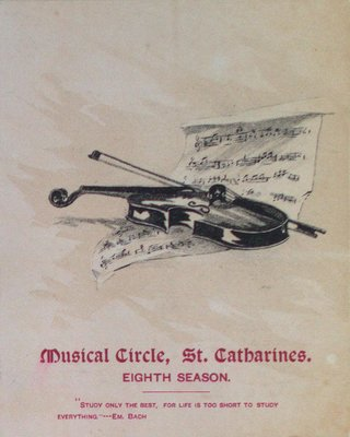 Teresa Vanderburgh's Musical Scrapbook #1 - Musical Circle St. Catharines Eighth Season Schedule of Events