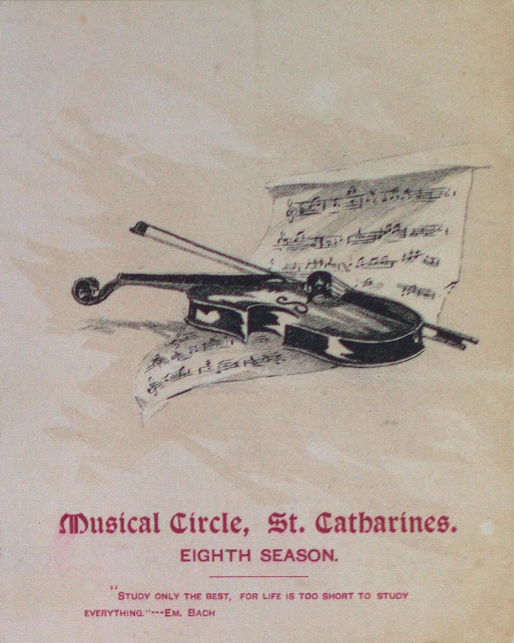 Teresa Vanderburgh's Musical Scrapbook #1 - Musical Circle St. Catharines Eighth Season Schedule of Events
