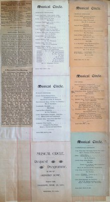 Teresa Vanderburgh's Musical Scrapbook #1 - Musical Circle Programs and Several Newspaper Clippings