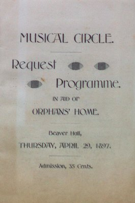 Teresa Vanderburgh's Musical Scrapbook #1 - Program for a Concert arranged by the Musical Circle