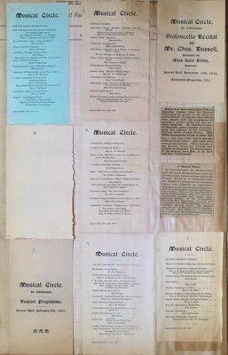 Teresa Vanderburgh's Musical Scrapbook #1 - Programs for Musical Circle Events