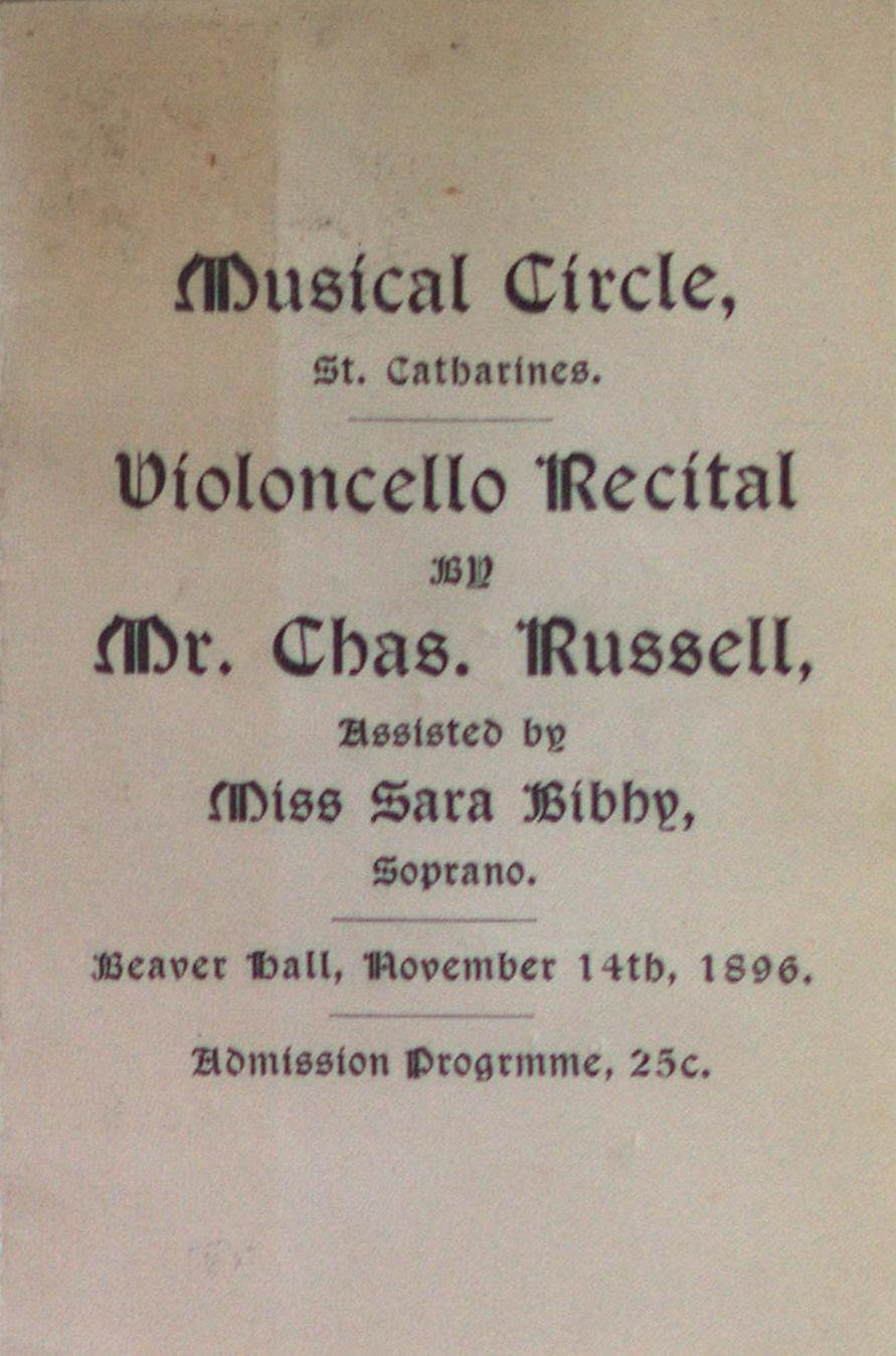 Teresa Vanderburgh's Musical Scrapbook #1 - Program for a Concert by the Musical Circle