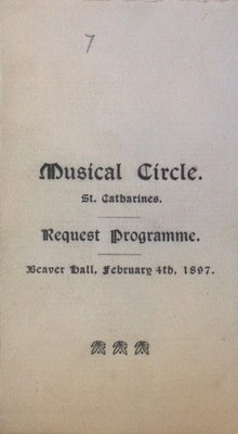 Teresa Vanderburgh's Musical Scrapbook #1 - Program for a Concert by the Musical Circle