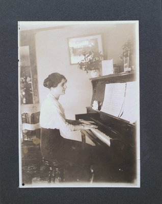 Miss Atyes Playing the Piano