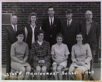 Portrait of Teachers and Staff at Maple Crest School, Merritton
