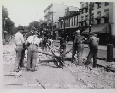 Railway Construction at James and King Streets