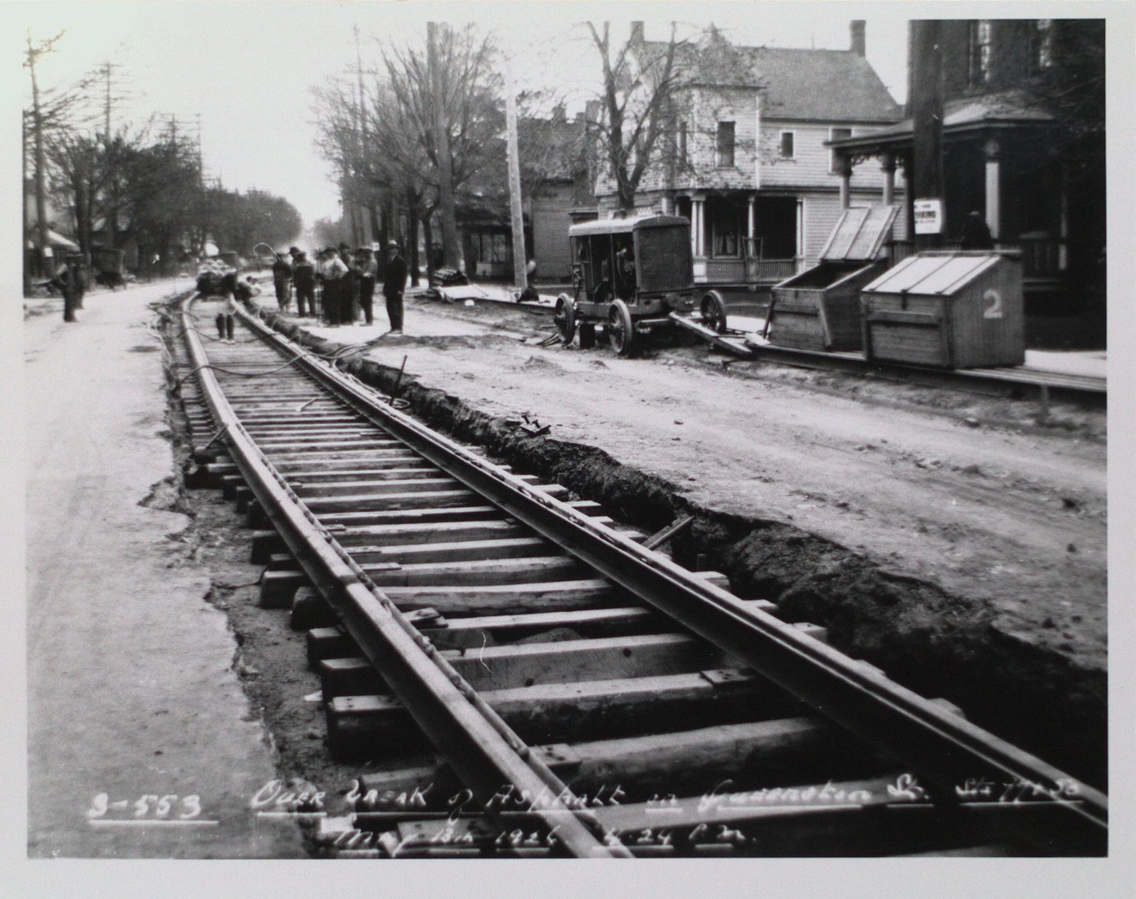 Railway Construction at Queenston Street