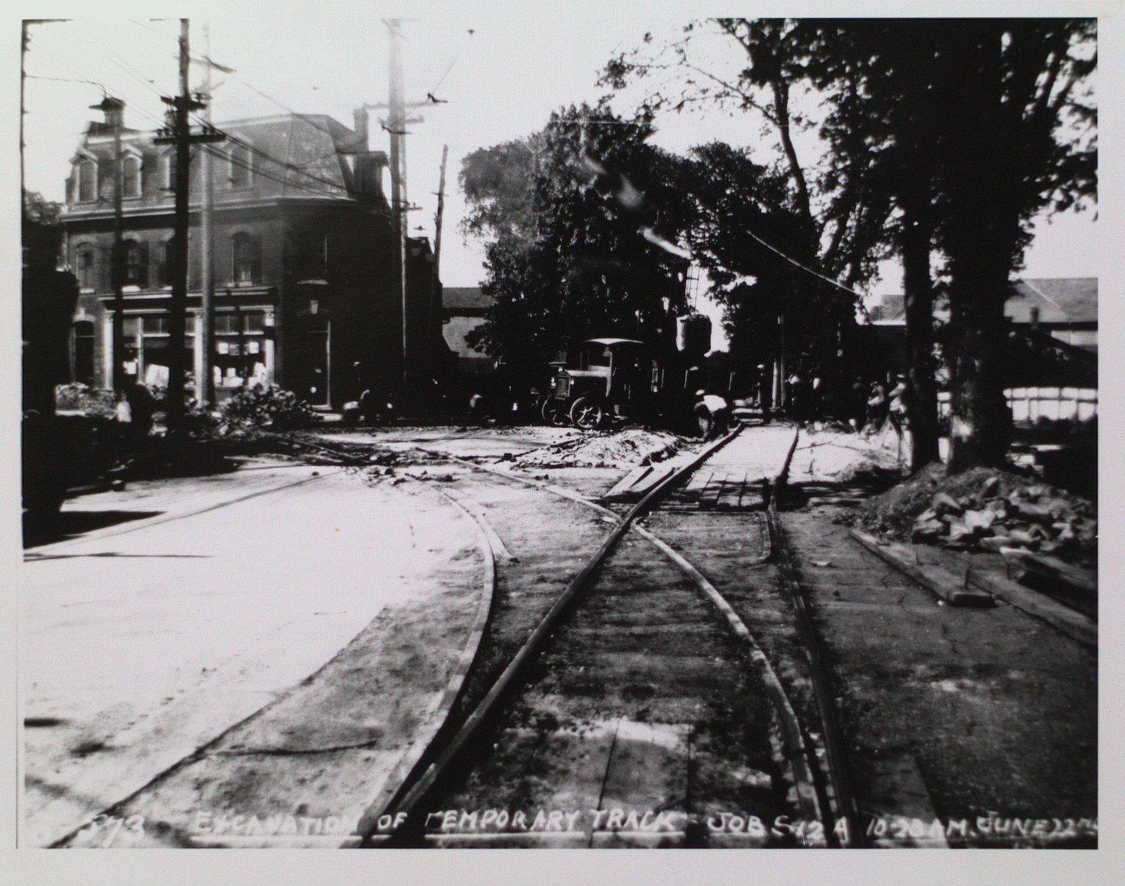 Railway Construction at Welland Avenue and Geneva Street