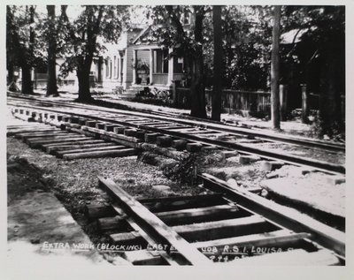 Railway Construction at Louisa Street