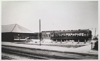 NS&T Car at the St. Catharines Railway Station