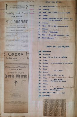 Teresa Vanderburgh's Musical Scrapbook #1 - Newspaper Clippings and Church Programs