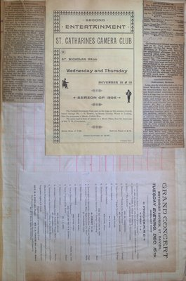 Teresa Vanderburgh's Musical Scrapbook #1 - Newspaper Clippings and Concert Programs