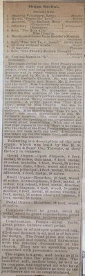 Teresa Vanderburgh's Musical Scrapbook #1 - Newspaper Clipping