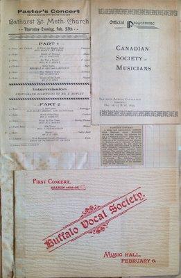 Teresa Vanderburgh's Musical Scrapbook #1 - Concert Programs and Canadian Society of Musicians Convention Program