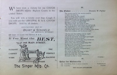 Teresa Vanderburgh's Musical Scrapbook #1 - Buffalo Vocal Society Concert Program